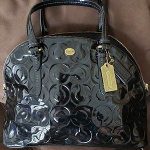 Coach Peyton OP Art Embossed Patent Leather Cora D